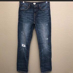 NWT J.Crew Distressed Slim Boyfriend Jeans 29